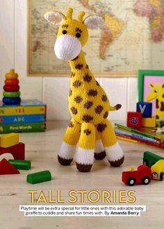 Small book-PDF pattern for amigurumi knit giraffe pattern. Boss, pattern, tutorials in English PDF format Easy Knitting Patterns, Crochet Patterns Amigurumi, Amigurumi Doll, Knitting Ideas, Simply Knitting, Free Knitting, Baby Knitting, Giraffe Toy, Giraffe Pattern