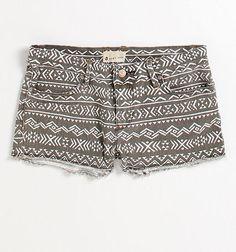 Grey aztec shorts! so cute!