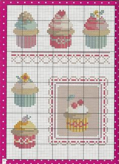 Gallery.ru / Фото #9 - 3- 2013 - saudades Cupcake Cross Stitch, Xmas Cross Stitch, Butterfly Cross Stitch, Cross Stitch Designs, Cross Stitch Patterns, Cross Stitches, Embroidery Patterns, Hand Embroidery, Christmas Embroidery