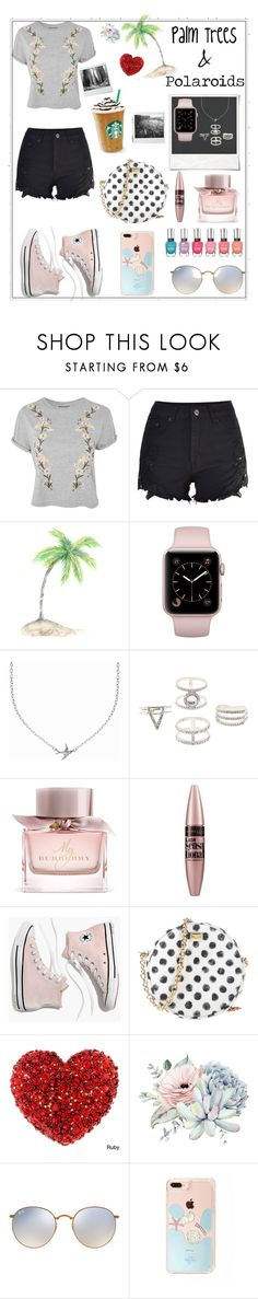 """""""Palm Trees And Polaroids"""" by makana121 ❤ liked on Polyvore featuring Topshop, Polaroid, Minnie Grace, Charlotte Russe, Burberry, Maybelline, Madewell, Dolce&Gabbana and Ray-Ban"""