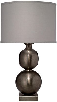 Jamie Young Double Ball Cast Metal Pewter Table Lamp | LampsPlus.com  $437