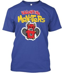 Valentine Monster! Trending T Shirt 2017 Deep Royal T-Shirt Front