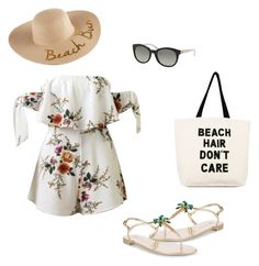 """beach look"" by kiwiid on Polyvore featuring WithChic, Giuseppe Zanotti, Soma, SONOMA Goods for Life and Michael Kors"