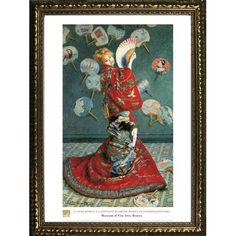 Found it at Wayfair - La Japonaise by Claude Monet Framed Painting Print
