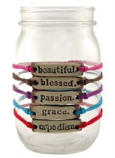 mudlove bracelets...each purchase helps provide clean water in Africa.  I want Carpe Diem #wishlist