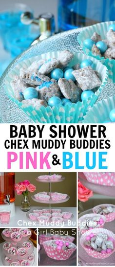 Chex Muddy Buddies Recipe For A Baby Shower Pink Blue