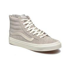 Klassiker von Vans. High-top Sneaker in Grau zum Schnüren.