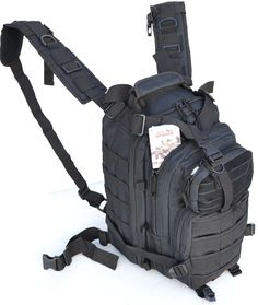 This pack is brilliantly designed and can serve multiple purposes. It is made using heavy-duty Polyester material (600D X 600D), reinforced and double-stitched, HUGE zippers, and molded buckles. It's #tacticalbag