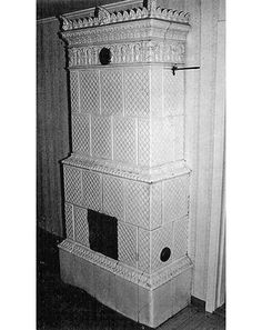Antique Swedish tiled stoves - Product gallery - Lindholm Kakelugnar. Maybe a stove like this in the bedroom.