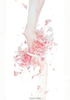 really cool drawings Boy Art, Art Girl, Anime Kunst, Anime Art, Mode Poster, Hand Flowers, Hand Art, Aesthetic Art, Chinese Art