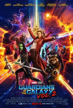 Directed by James Gunn. With Chris Pratt, Zoe Saldana, Dave Bautista, Vin Diesel. Set to the backdrop of Awesome Mixtape & of the Galaxy Vol. continues the team& adventures as they unravel the mystery of Peter Quill& true parentage. New Movies, Movies To Watch, Movies Online, Good Movies, Movies Free, Latest Movies, 2017 Movies, Imdb Movies, Amazing Movies