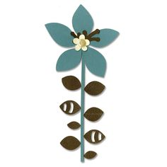 Sizzix Bigz Die - Flower, Leaves & Stem #4,   You can achieve astonishingly funky designs with this one!