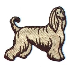"""Afghan Hound Dog Embroidered Patch 3/"""" Tall"""