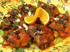 Valencian Chicken..so glad I found this recipe..sherry, olives, and raisins...DID IT! YUM!