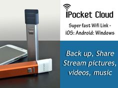 $22 Cloud Drive KS Exclusive Reward-Wirelessly add up to 128 GB of Storage + Streaming + Hotspot for 8 users. Optional Battery/Charger. iPocket Cloud Drive & Mobile Charger: iPhone iPad Android by UNiFLASH