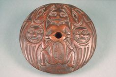 19th century Coast Salish spindle whorl, DeMenil private collection.