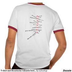 T-shirt met Kroatische vakantie bestemmingen