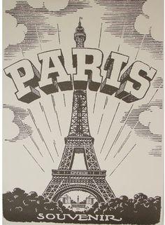 Cavallini Paris Eiffel Tower