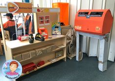Dramatic Play Themes, Cardboard Crafts, Reggio Emilia, Cute Crafts, Post Office, Preschool, Activities, Games, Projects