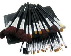 High Quality 34 Pcs Foundation Concealer Make Up Makeup Brush Kit Eye Shadow Lip Eyelashes Cosmetic Tool Set with a Roll up Case - Black by AMC. $28.99. Durable unique packaging can well protect your makeup brushes. It is suitable for each wise customer. With superior-quality, the makeup brushes in the set will not irritate your skin. The makeup brush set is easy to carry and use. It is an important beauty essential for you. Features: The makeup brush set is easy to c...