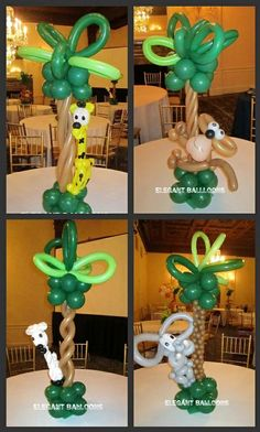 Balloons for the Safari/Jungle Baby Shower