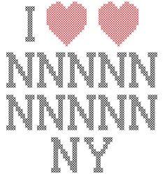 Doctor Who I Love Heart, Heart New New etc York Cross Stitch Pattern PDF   RobinsDesign - Patterns on ArtFire (ACTUAL PATTERN HAS 15)