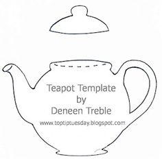 TEAPOT...would be really cute on kitchen items in lots of different colors.