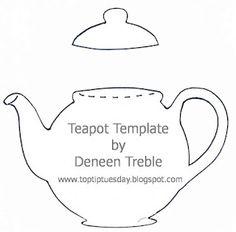 Tea Pot card template