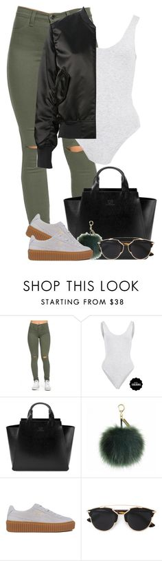 """"""":: 1/10/16::"""" by camgueyana ❤ liked on Polyvore featuring Under My Roof, Helen Moore, Puma, Christian Dior and Acne Studios"""