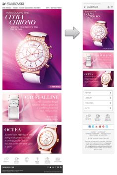 Beautiful responsive email design from Swarovski