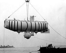 El Trieste fue un batiscafo de investigación oceanográfica de diseño suizo y de construcción italiana con una tripulación de dos ocupantes. En 1960 alcanzó una profundidad de inmersión récord de 10.900 m en la Fosa de Las Marianas, cerca de la isla de Guam.