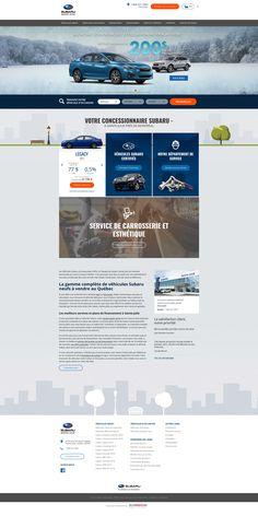 Best Promotional design for car dealers. Get Inspired Today! Subaru Legacy, Web Design Inspiration, Creative Inspiration, Car Websites, Car Dealers, La Rive, Promotional Design, Behance, Graphic Design