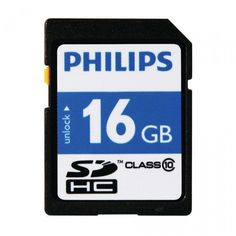 Philips 16 GB SD Geheugenkaart class 10 zwart  Deze Philips class 10 SDHC geheugenkaart heeft een opslagcapaciteit van 16 GB en is zeer geschikt voor apparaten welke een hoge schrijfsnelheid vereisen. HD videocamera's en fotocamera's maken vaak gebruik van dit type SDHC geheugenkaart.  EUR 9.95  Meer informatie  #neckermann