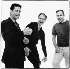 John Cage,Merce Cunningham and Jasper Johns by Richard Avedon,NYC, 1960