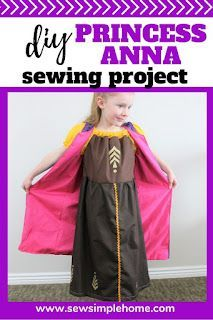Sew up your own diy anna costume with this free peasant dress pattern and sewing tutorial. Peasant Dress Patterns, Peasant Skirt, Anna Costume, Dress Up Costumes, Princess Anna Dress, Halloween Sewing, Dress Up Boxes, Costume Tutorial, Girls Dress Up