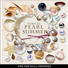 PEARL....Far Far Hill: Free Elements book of images for you to download and use forever! SO Beautiful!