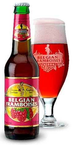 Belgian Framboise: Long before hops were common in most beers, various fruits and vegetables were used to season beers. The acidity of Lambic beers blends perfectly with raspberries.