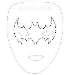 Face paint ideas on pinterest face paintings christmas for Joker mask template