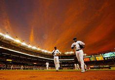 Colorful night at the ballpark -        Didi Gregorius and Jose Pirela