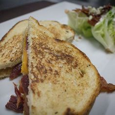 Grilled cheese and wedge salad; Lunch never tasted so delicious! Wedge Salad, Menu Items, Grilling, French Toast, Wedges, Lunch, Cheese, Breakfast, Food