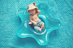 Baby Boy Fishing Hat  Shorts Newborn Photo prop by LandyKnits, $45.00