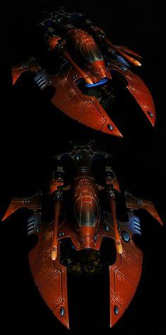 Eldar Hornet Manufacturer: Games Workshop (Forge World) by Demonrich Eldar 40k, Warhammer Eldar, Warhammer Paint, Dark Eldar, Warhammer Models, Warhammer Fantasy, Warhammer 40000, Figurine Warhammer, Warhammer 40k Miniatures