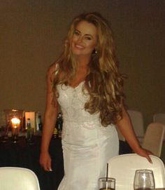 Evening wedding gown with hair taken out from my updo xxx