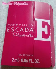 Here you can see a free sample from the new parfume from Especially Escada: Delicate notes.