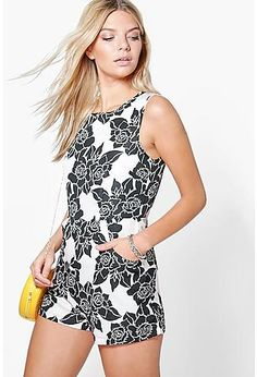 683a4bad6171 Sophie Floral Print Sleeveless Playsuit