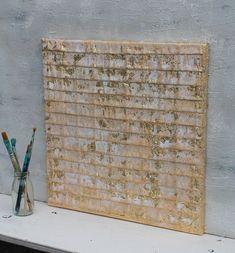 Blattgold, abstrakte Malerei, gold, 40x40x1,5 cm, Strukturbild, mischtechnik, Papier, atelier maltopf, Struktur Malerei, Struktur Bild, #33 von AtelierMaltopf auf Etsy