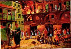 El jugoso y perverso negocio de los bomberos en la Antigua Roma.