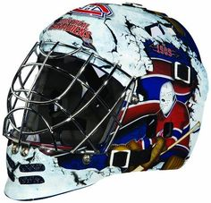 NHL Montreal Canadians SX Comp GFM 100 Goalie Face Mask by Franklin. $47.08. Show your team spirit with the Franklin Montreal Canadiens NHL Team Goalie Mask Emblazoned with officially licensed team logos and colors and featuring High impact ABS Plastic with antimicrobial technology. Anatomically designed for safety and comfort with adjustable quick-snap straps to ensure proper fit. Sized for kids ages 5-9 and only for street hockey use. Not intended for ice hockey...