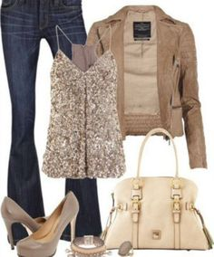 Glittery Outfit for Fall Date Night