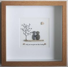 Pebble Art framed Picture Couple Couple in Love